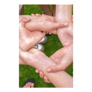 Arms with hands of girls holding each other personalized stationery