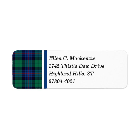 Armstrong Clan Royal Blue and Green Tartan