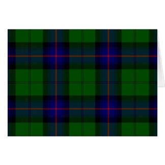 Armstrong clan tartan blue green plaid card