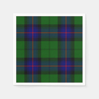 Armstrong clan tartan blue green plaid disposable napkins