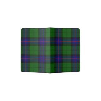 Armstrong clan tartan blue green plaid passport holder