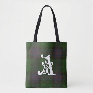Armstrong Clan Tartan Monogram Tote Bag