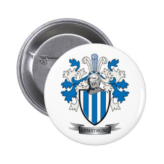Armstrong Family Crest Coat of Arms 2 Inch Round Button