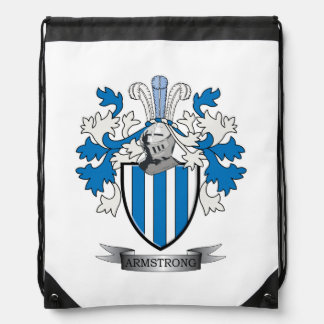 Armstrong Family Crest Coat of Arms Drawstring Bag