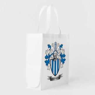 Armstrong Family Crest Coat of Arms Reusable Grocery Bag