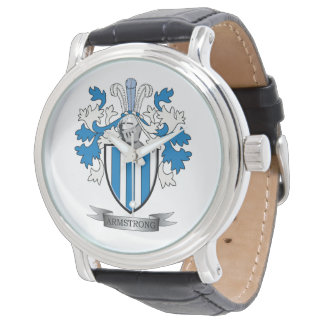 Armstrong Family Crest Coat of Arms Watches