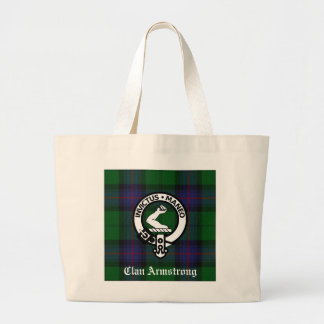 Armstrong Family Crest & Tartan Tote Bag