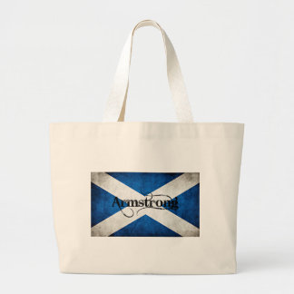 armstrong grunge flag large tote bag