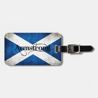 armstrong grunge flag luggage tag