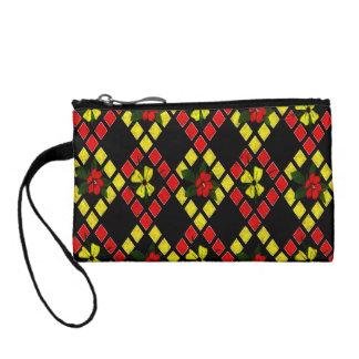 Armure d'art rouge, jaune, noir portefeuille
