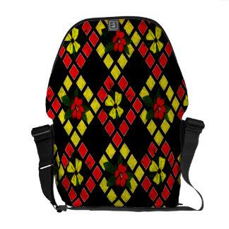 Armure d'art rouge, jaune, noir sacoche