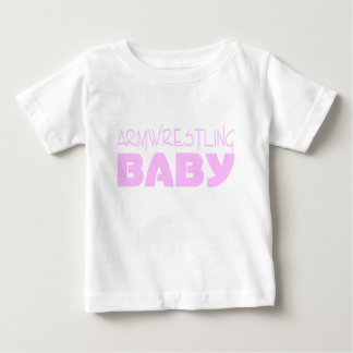 Armwrestling Baby Wear (Pink) Baby T-Shirt