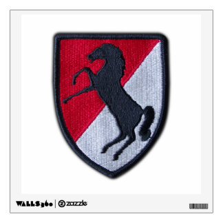 Army 11th ACR Cavalry Air Cav Veterans Vets patch Wall Decal