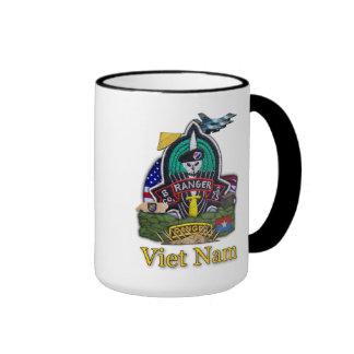 army 75th airborne ranger veterans vietnam vets Mu Ringer Coffee Mug