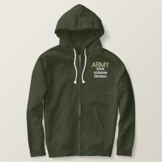 ARMY 82nd Airborne Embroidered Zip Hoodie