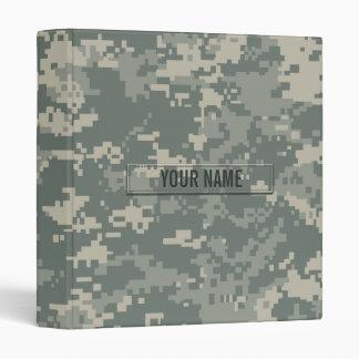 Army ACU Camouflage Customizable 3 Ring Binders