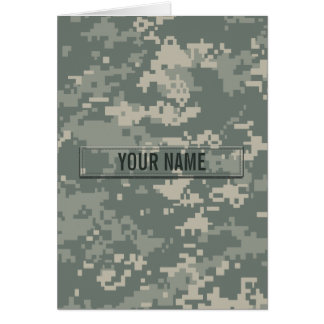 Army ACU Camouflage Customizable Card
