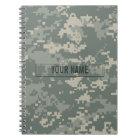 Army ACU Camouflage Customizable Notebook