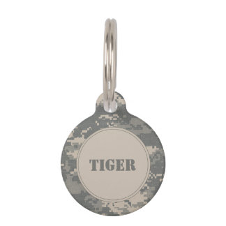 ARMY ACU Digital Camo Camouflage Pet Name Tag