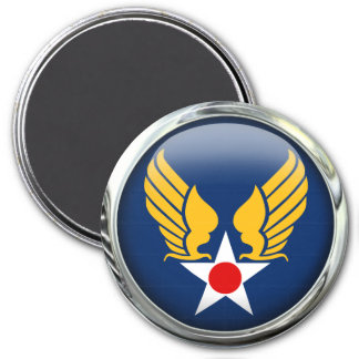 Army Air Corps 3 Inch Round Magnet