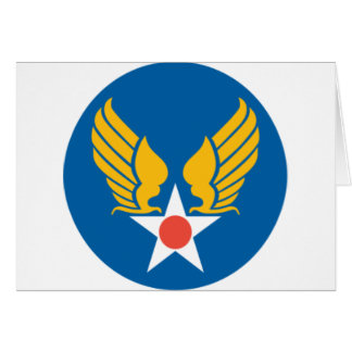 Army Air Corps Shield Greeting Card