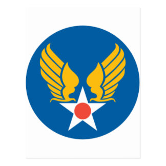 Army Air Corps Shield Postcard