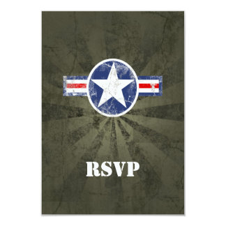 "Army Air Corps Vintage 3.5"" X 5"" Invitation Card"