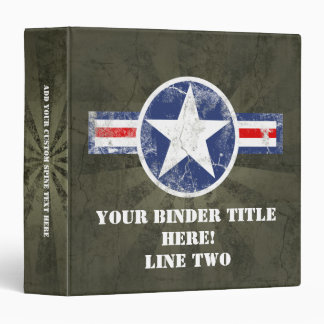 Army Air Corps Vintage Binder