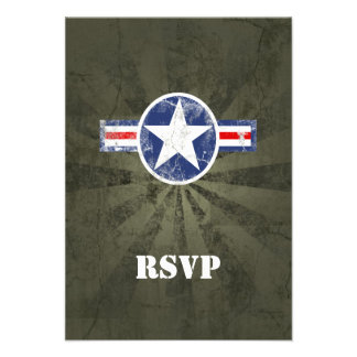 Army Air Corps Vintage Personalized Announcements
