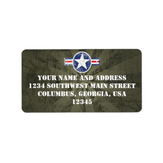 Army Air Corps Vintage Custom Address Labels