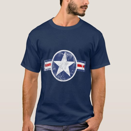 Army Air Corps Vintage Star Patriotic T-Shirt