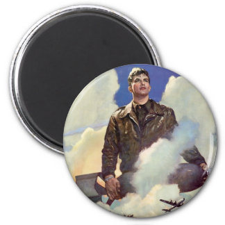 Army Air Forces 2 Inch Round Magnet