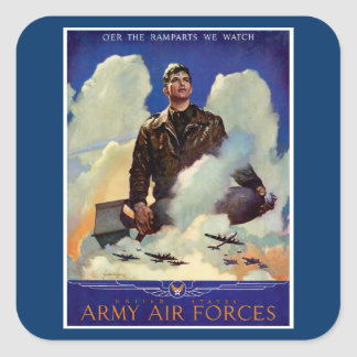 Army Air Forces Square Sticker