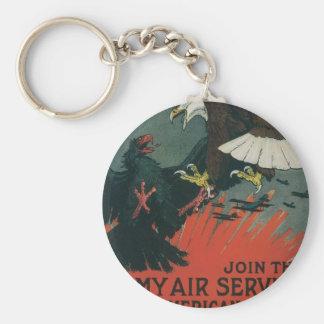 Army Air Service circa 1917 Basic Round Button Keychain