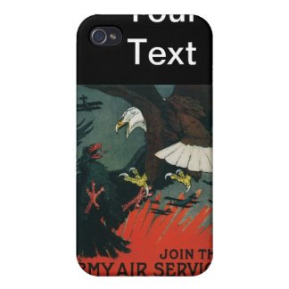 Army Air Service Vintage WWI Poster iPhone 4/4S Cover
