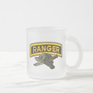 Army airborne rangers LRRPS recon LRS 10 Oz Frosted Glass Coffee Mug