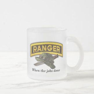Army airborne rangers LRRPS recon LRS Frosted Glass Mug