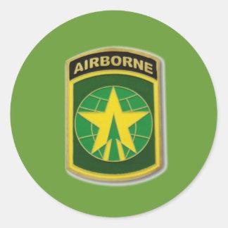 ARMY AIRBORNE ROUND STICKER