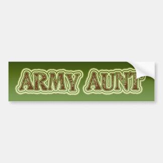 Army Aunt Bumper Stickers