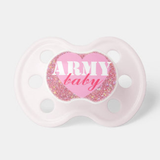 """""""Army baby"""" Girls Patriotic Military Pacifier"""