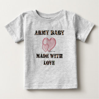 Army Baby Made with Love  Baby T-Shirt