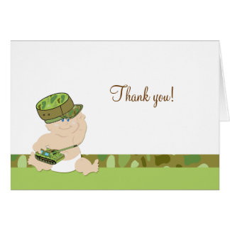 Army Baby Military Folded Thank you notes
