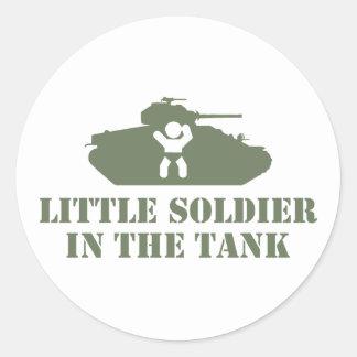 Army Baby Round Sticker