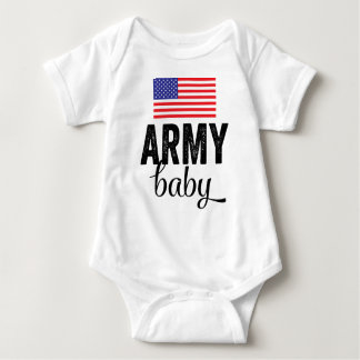 Army Baby with USA Flag Baby Bodysuit