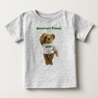 Army Bear, America's Finest.  Baby T-Shirt