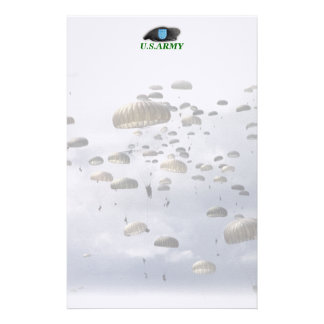 Army beret flash units Stationery