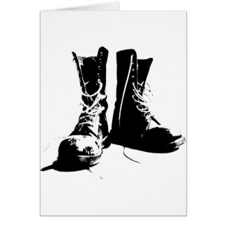 Army Boots Card