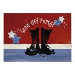 Army Boots Send-Off Party 5x7 Paper Invitation Card