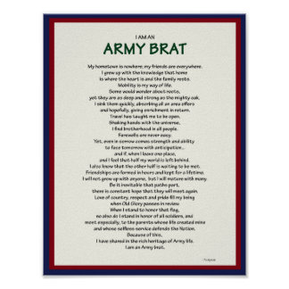 Army Brat 8.5 x 11 Poster