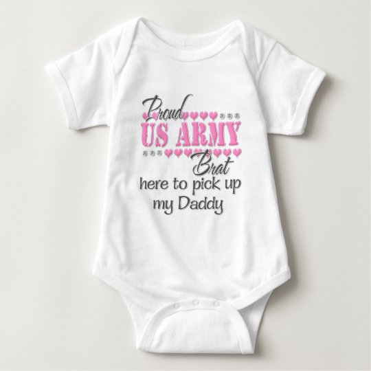 Army Brat here to pick up Daddy Baby Bodysuit